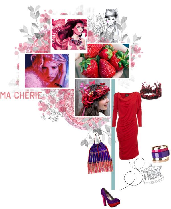 Berry-licious - Outfit For a Summer Wedding Guest, created by polly-wore on Polyvore
