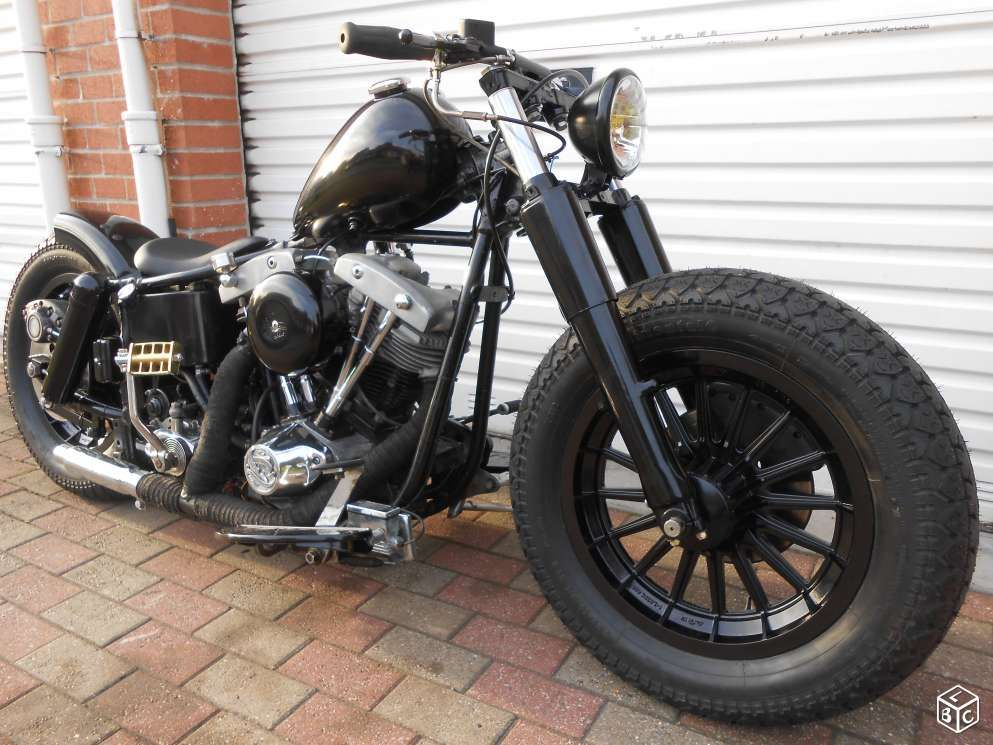 harley davidson flh 1200 shovel shovelhead bobber motos nord motors pinterest. Black Bedroom Furniture Sets. Home Design Ideas