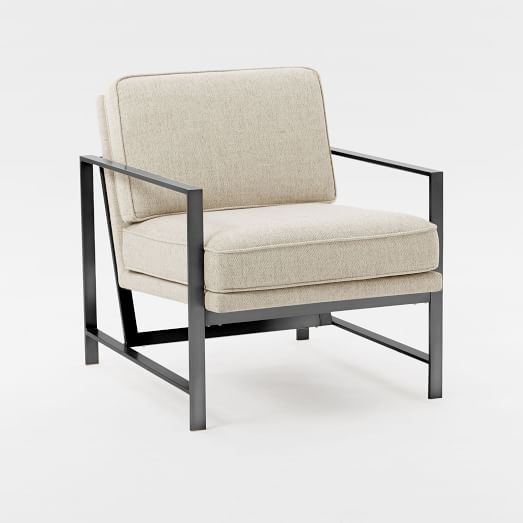 Metal Frame Upholstered Chair -  Liked @ Homescapes Home Staging www.homescapes-sd.com #contemporarychair