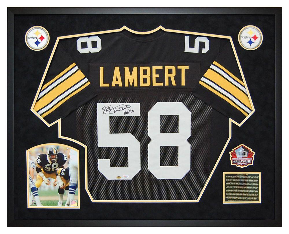 brand new 51fb0 125ee Jack Lambert Pittsburgh Steelers Autographed Jersey Custom ...