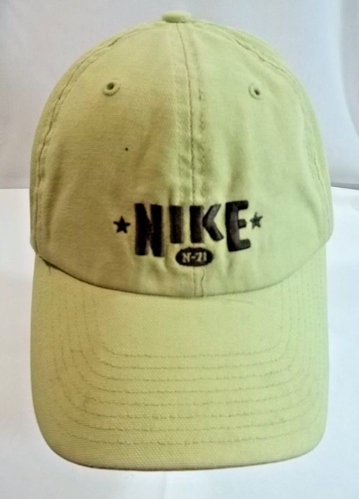 57d821cad09 Nike Cap Hat Light Green Embroidered Brown Logo  Nike  BaseballCap ...