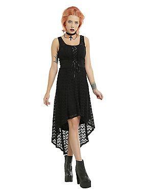 a1a6883a64 Hi-lo love    Royal Bones By Tripp Black Sleeveless Crochet Hi Low Dress