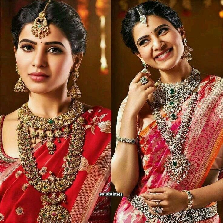 Kerala Bride Simple Hairstyle For Long Forehead: South Indian Beauiful Actress Samantha Akkineni