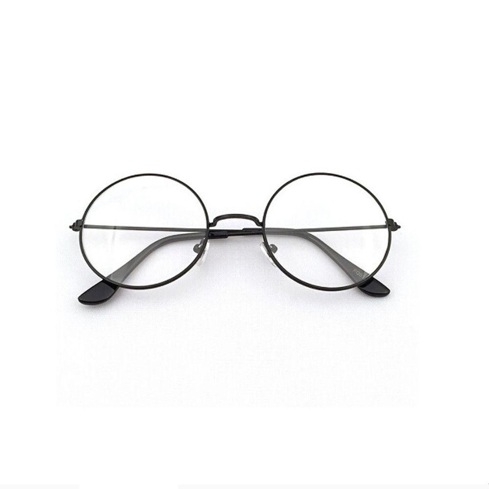24cba4f79be Women Men Retro Round Metal Frame Clear Lens Glasses Nerd Spectacles  Eyeglass