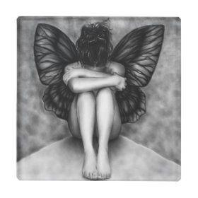 Sad Butterfly Girl Pillow | Zazzle.com