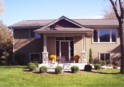 Split Foyer Home With Front Porch : Front porches on contemporary raised ranch homes joy