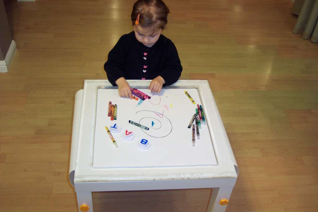 How To Make A Functional Childrens Coloring Table
