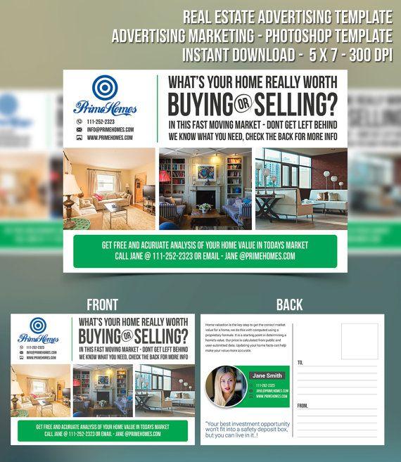 Real Estate advertising Template Advertising Marketing by Koreev - free postcard templates microsoft word