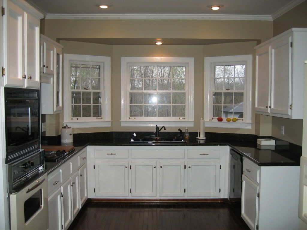White kitchen cabinets with black marble countertops - White Kitchen Cabinets With Dark Grey Countertops White Kitchen Cabinets With Dark Grey Countertops Shaped Kitchen Gallery