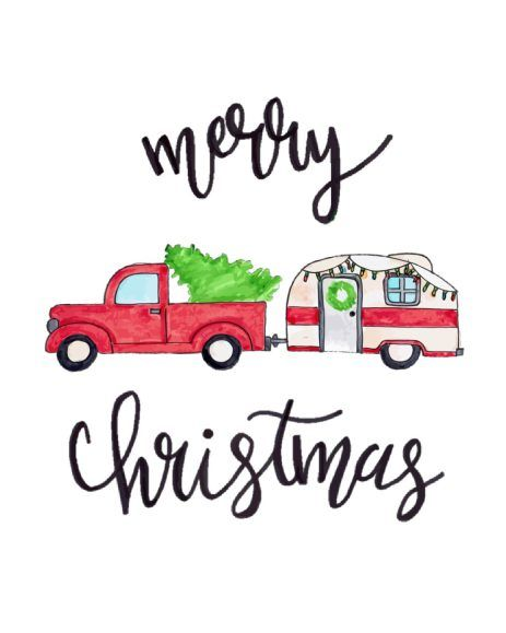 photograph relating to Free Printable Christmas Signs known as Cost-free Printable // Merry Xmas Crimson Truck Xmas