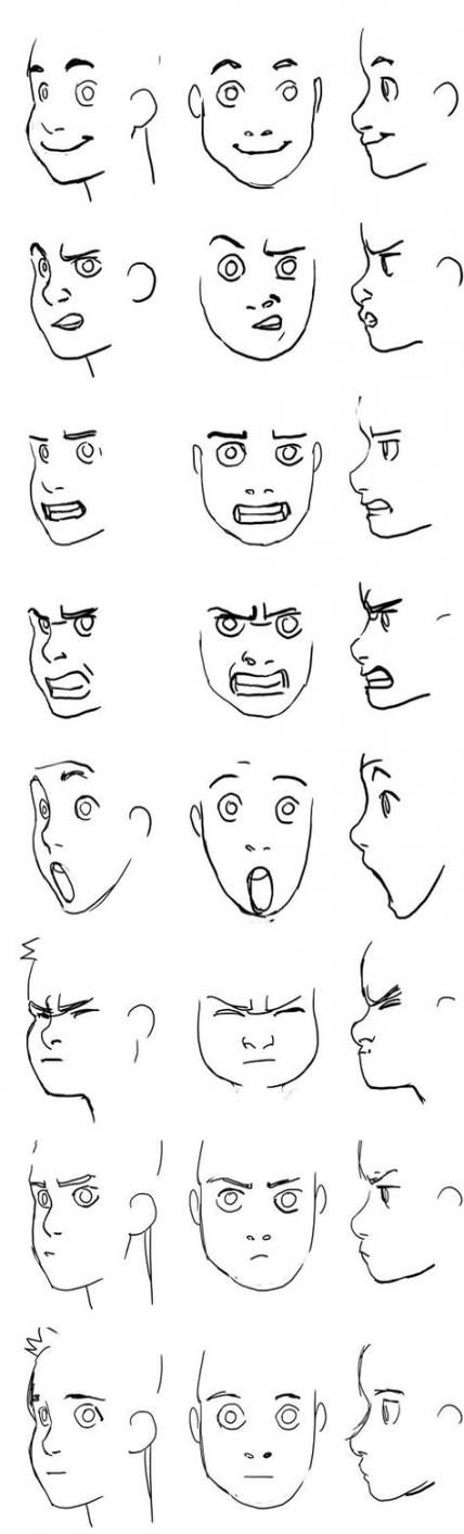 54 Trendy Drawing Reference Anime Facial Expressions Drawing