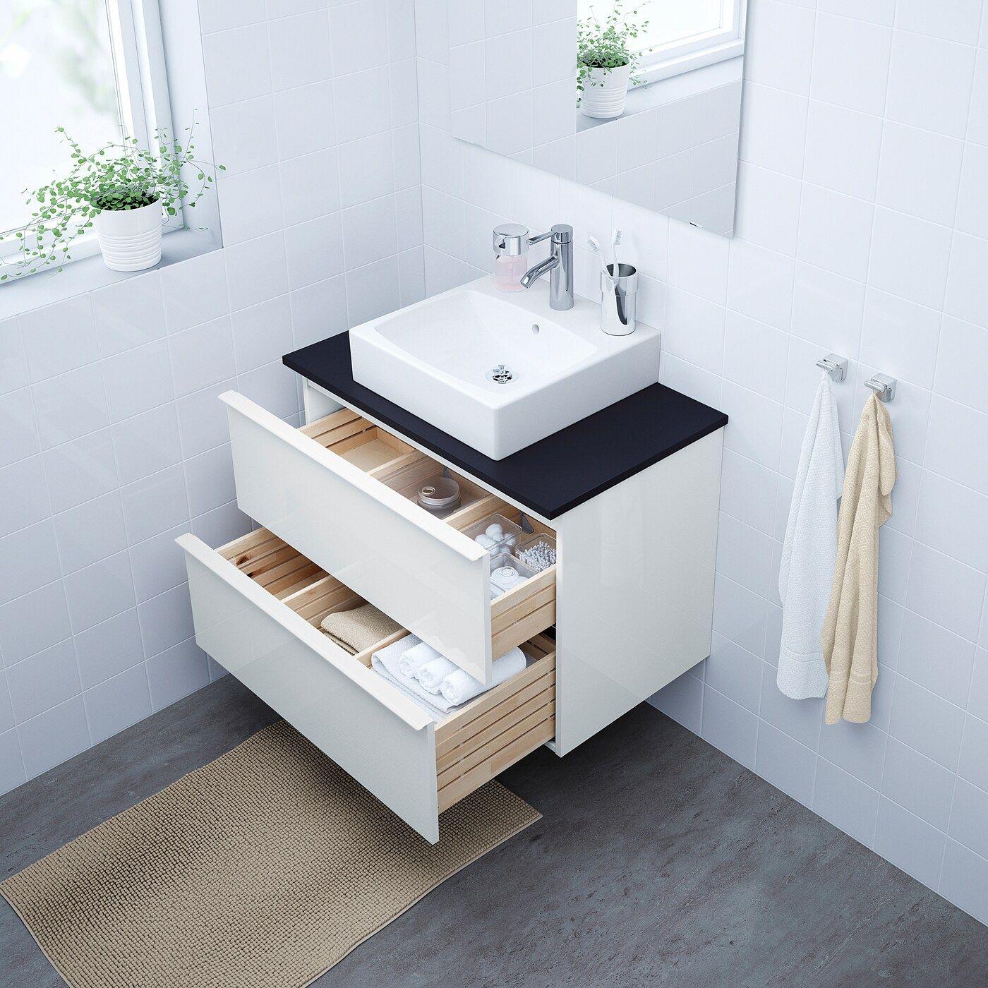 Godmorgon Tolken Tornviken Waschbeckenschr Aufsatzwaschb 45x45