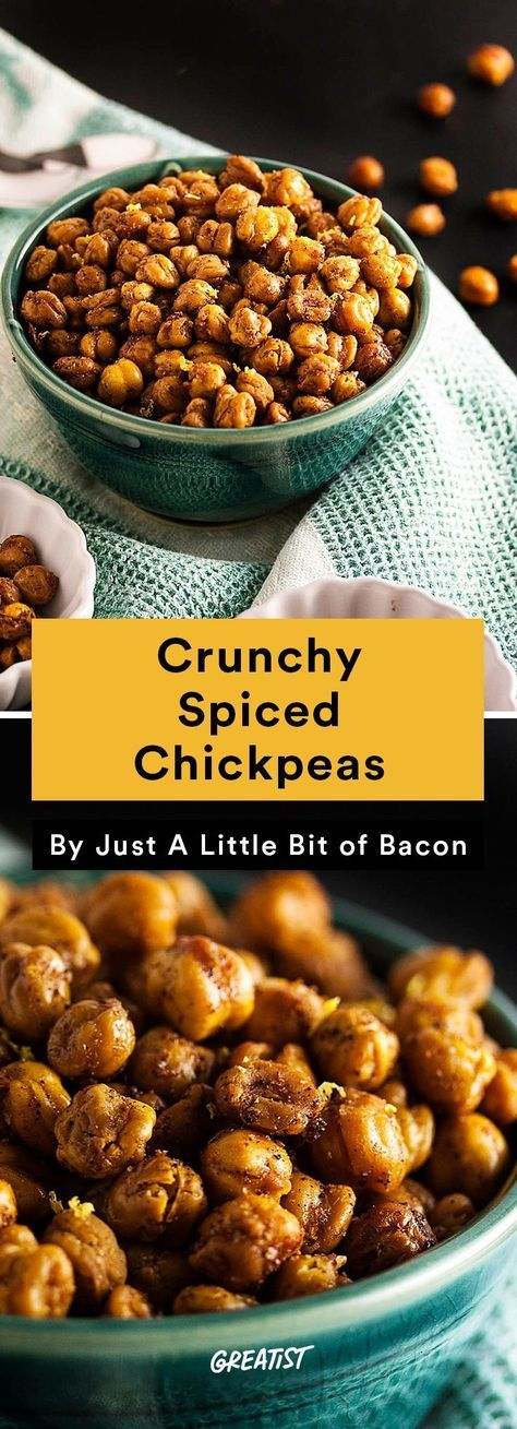 4. Crunchy Spiced Chickpeas  #healthy #summer #snacks http://greatist.com/eat/healthy-summer-snacks-that-dont-require-a-cooler