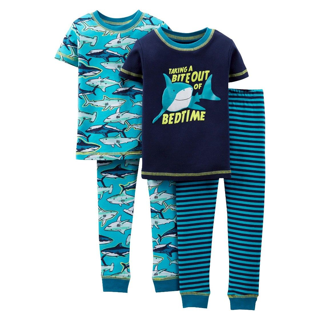 just one you made by carters toddler girls shark pajamas boy just one you made by carters toddler girls shark pajamas