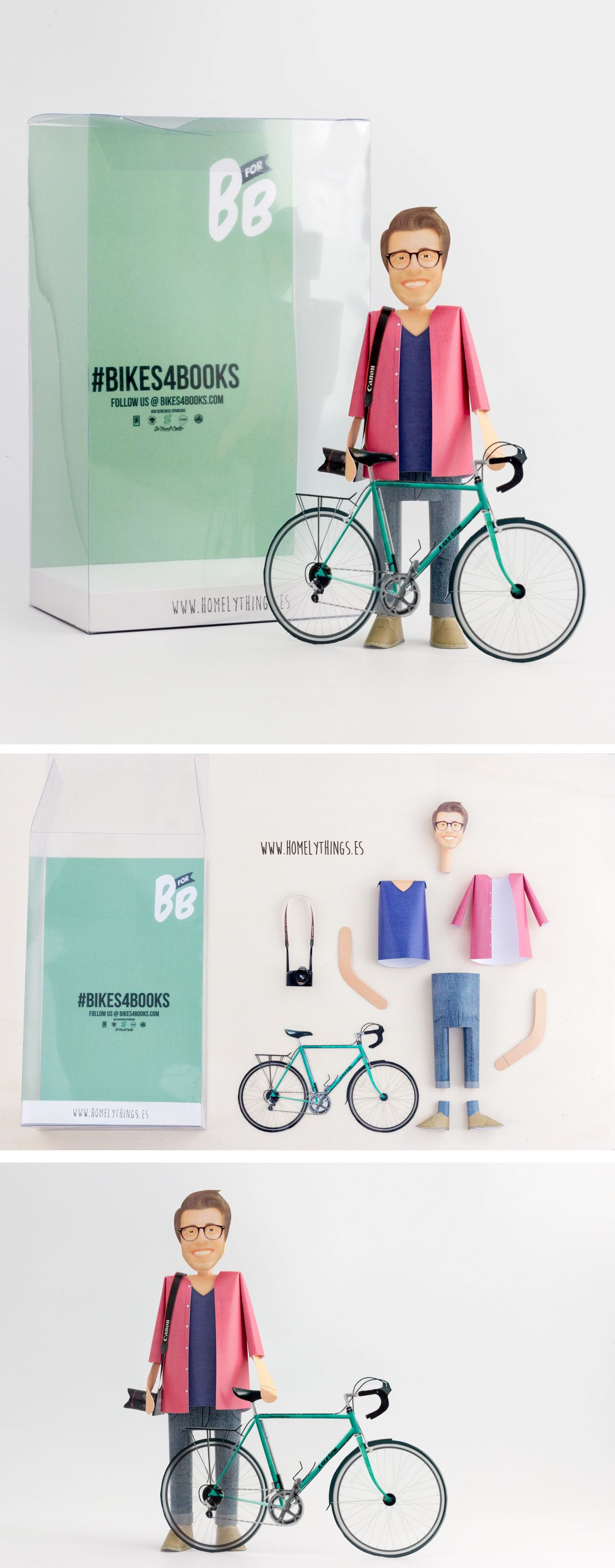 papertoy bikes for book!! #bikesforbooks, #bforb, #papertoy, #papertoypersonalizado, #paperbike, #homelythings