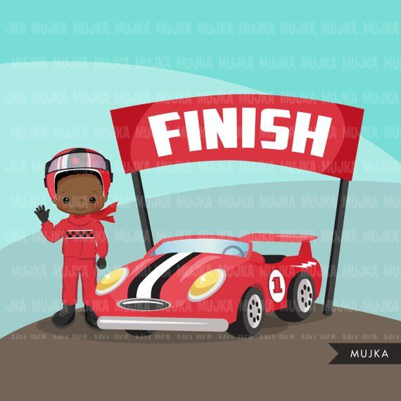 Car Racing Clipart. Formula 1 Graphics, Race Flag, Finish