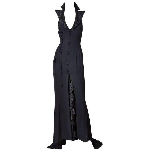 b52daaacf5 Preowned Christian Lacroix Silk Crepe Tuxedo Gown ( 1