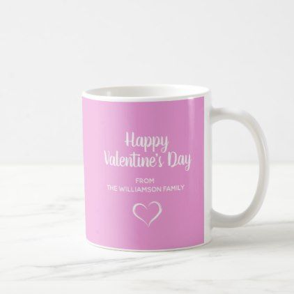 Pink and White Personalized Valentine Coffee Mug - valentines day ...