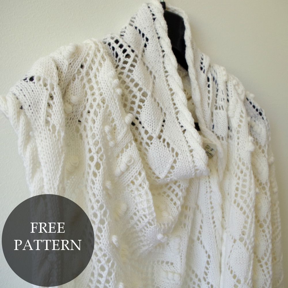 Pattern for Mother\'s Day lace shawl | Chal, Guantes y Tejer bufandas