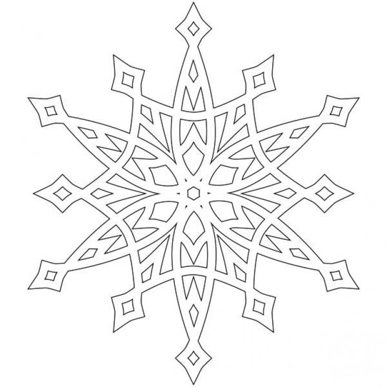 Snowflake coloring page for older kids | Abstract Coloring Pages ...