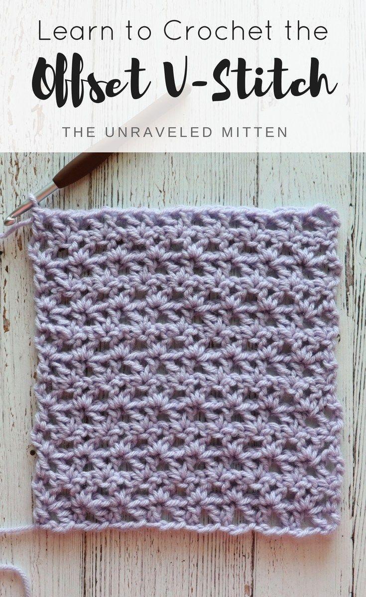 How to Crochet the Offset V Stitch | Pinterest | Häkeln