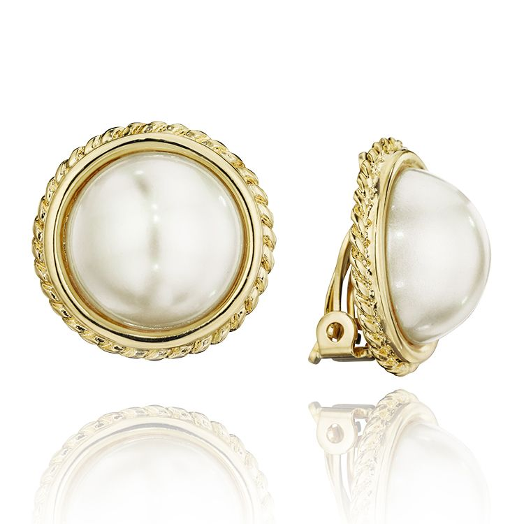 Earrings On Barbara White Pearl Clip Carolee My Style
