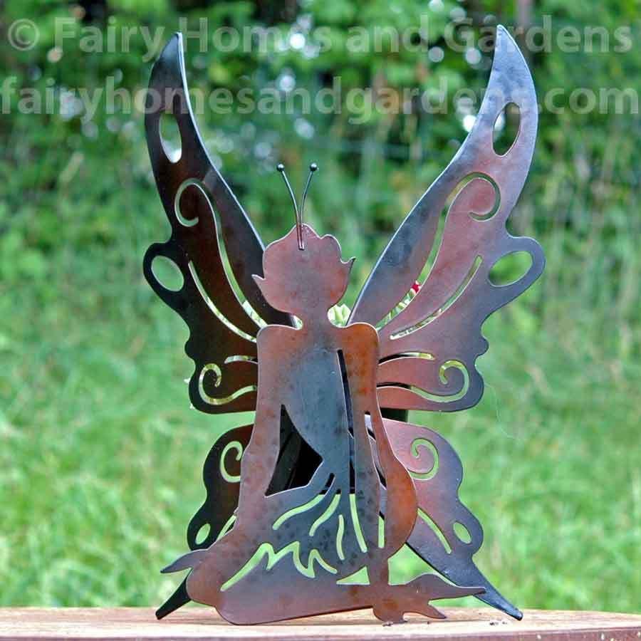 Metal Fairy Sculpture Planter Metal Tree Wall Art Metal
