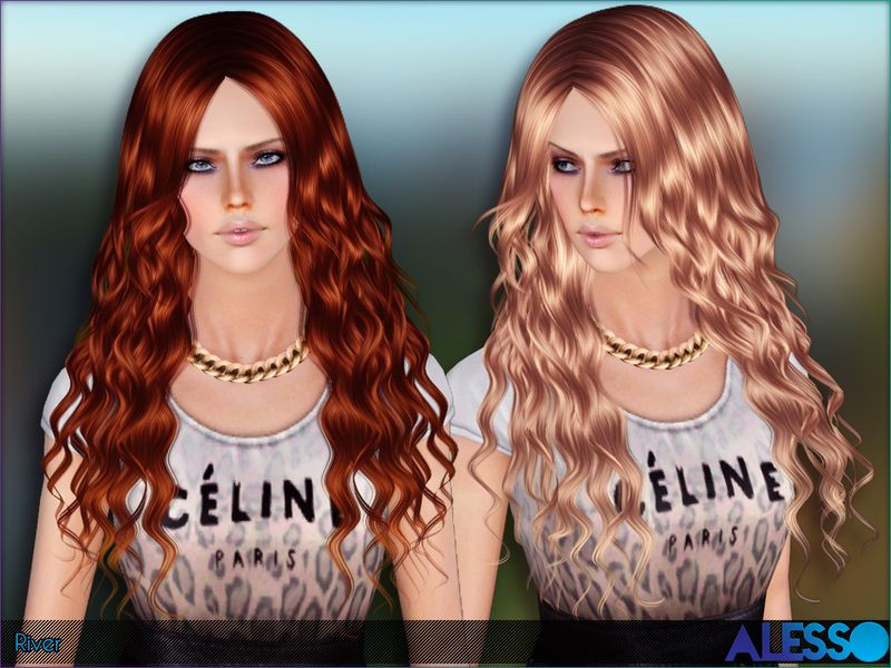 Long Curly Hair For Females Found In Tsr Category Female Sims 3 Hairstyles Sims Hair Hair Styles Womens Hairstyles