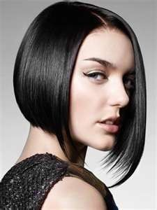 Blunt Bob With One Side Longer Than The Other Hair Hair Hair