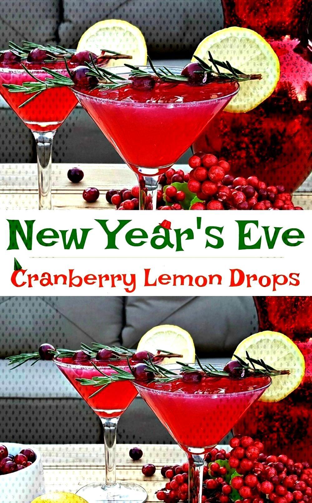 Years Drink Recipe - Cranberry Lemon Drop - New Year's Eve Drink Recipe! A cranberry lemon drop