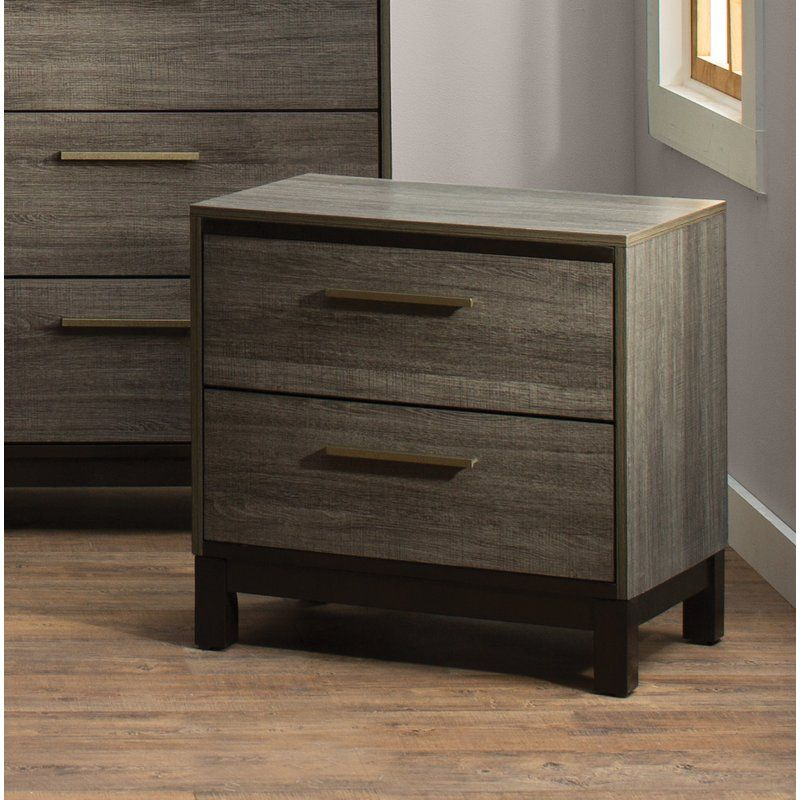 Pin By Christie On Bedroom Inspo 2 Drawer Nightstand Nightstand Drawer Nightstand