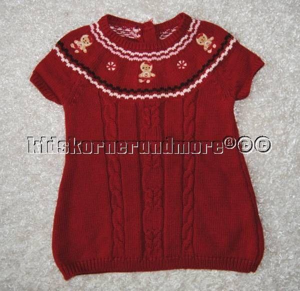 85251e52b721 Gymboree Gingerbread Girl 12-18 mo Red Yoke Sweater Dress Holiday Winter # Gymboree #EverydayHoliday
