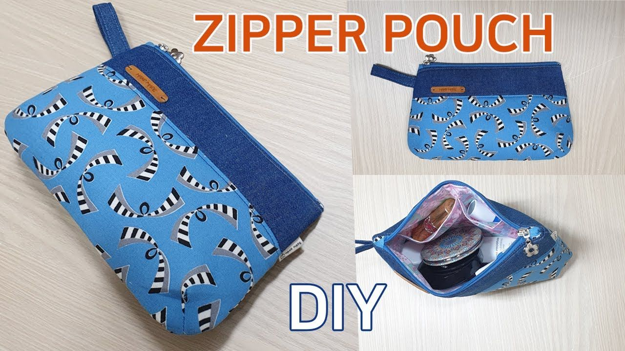 DIY Zippered pouch/Easy Sewing Zipper Pouch/쉽게 만들 수 있는
