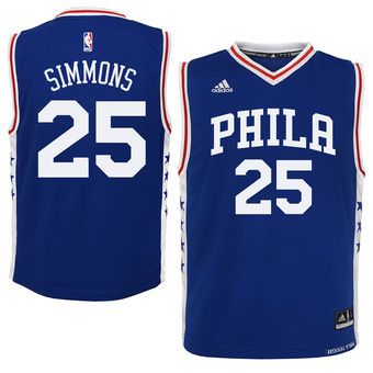 5bebcd388cc Youth Philadelphia 76ers Ben Simmons adidas Royal Replica Jersey | A ...
