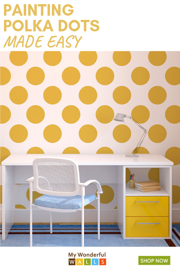 Painting Polka Dots On The Wall Has Never Been Easier This Dot Pattern