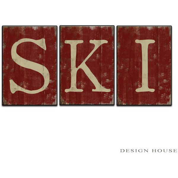 Wooden Home Signs Decor Glamorous 3 Piece Wooden Ski Sign Art Skiing Wall Art Ski Plaques Winter Review