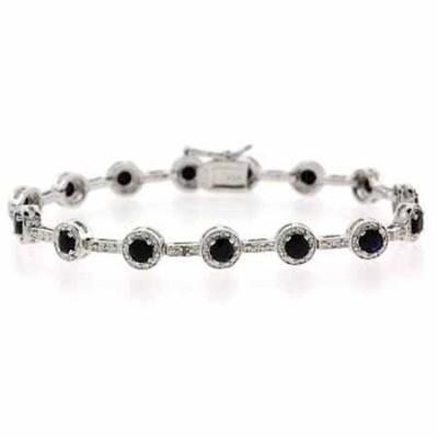 Bracelet de diamant et saphir $160