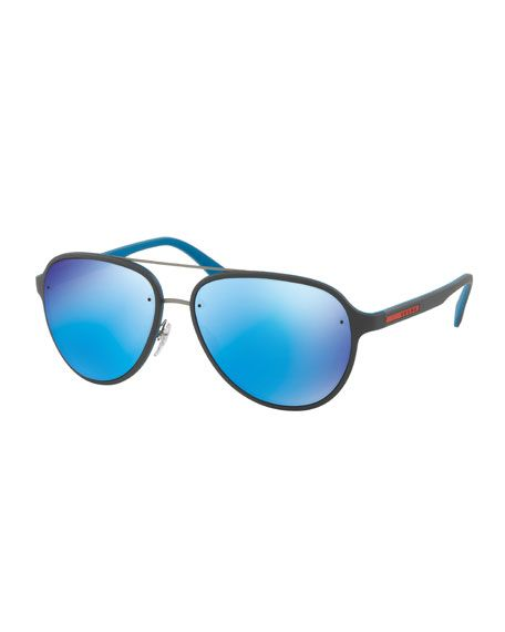 a7499be0d41b PRADA Linea Rossa Men S Aviator Sunglasses