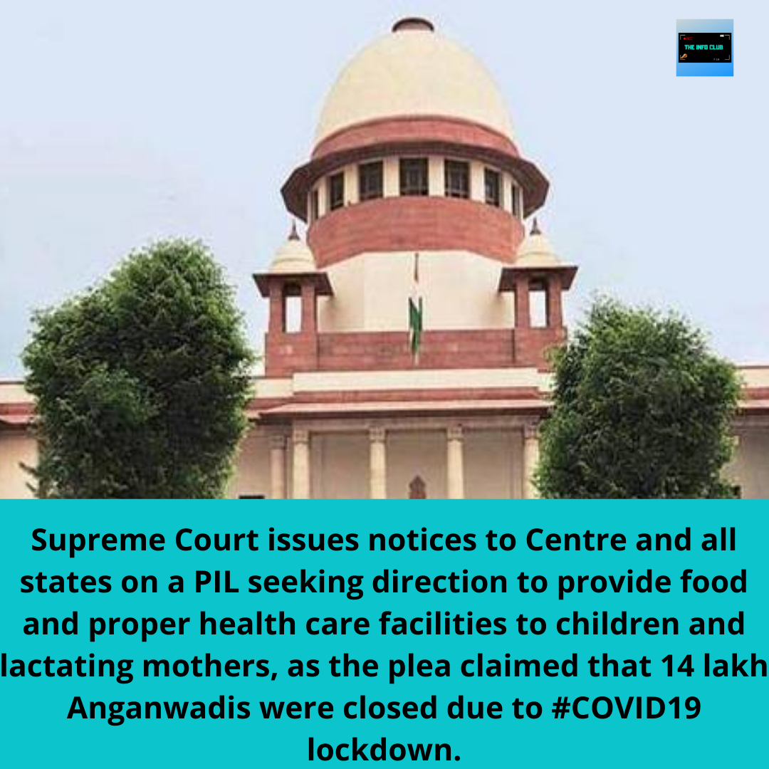 Supreme Court Issues Notices To Centre And All States On A Pil Seeking Direction To Provide Food And Proper Health C In 2020 Care Facility Lactating Mother Health Care
