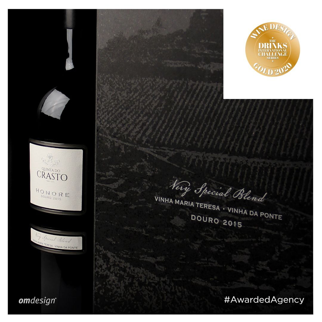 Packaging Honore Douro  #Omdesign #Design #Portugal #LeçadaPalmeira #Since1998 #AwardedAgency #DesignAwards #Packaging #WinePackaging #PackagingDesign #QuintadoCrasto #Honore #HonoreDouro  #HonoreDOC #DouroDOC #Douro #IVDP #Awards #WineDesignChallenge #DrinksInternational