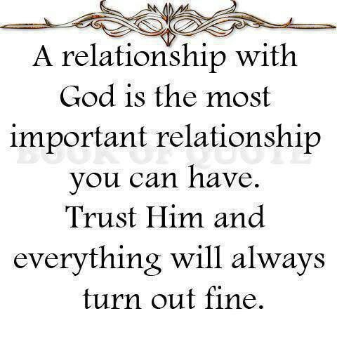 Relationship with God..