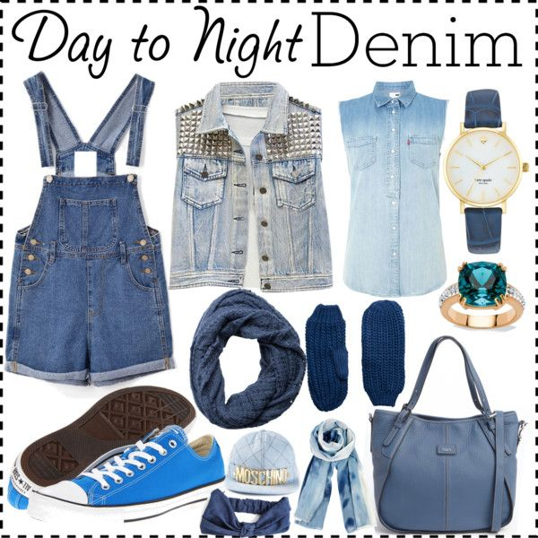 """""""!Day to Night Denim Look!"""" by gmutabazi on Polyvore"""