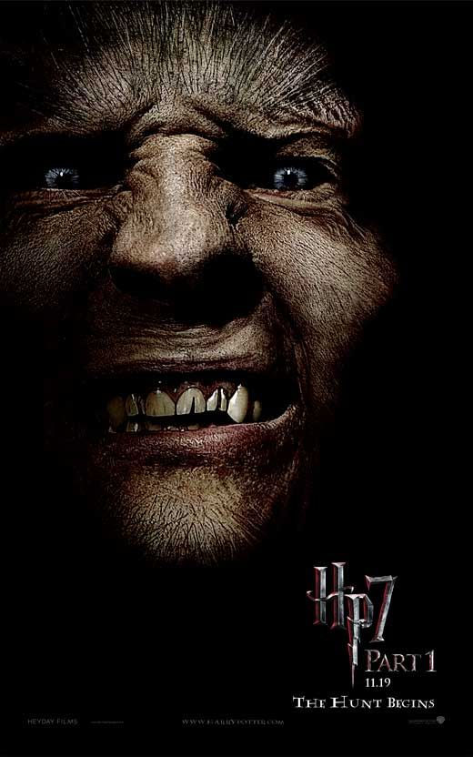 Harry Potter And The Deathly Hallows Part I 2010 Harry Potter Films Fenrir Greyback Harry Potter Deathly Hallows Movie