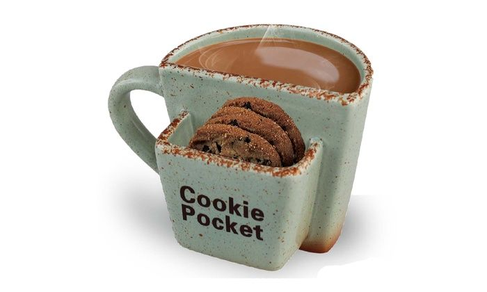 Ceramic Coffee Mug With Cookie Pocket In A Mugs Cookies