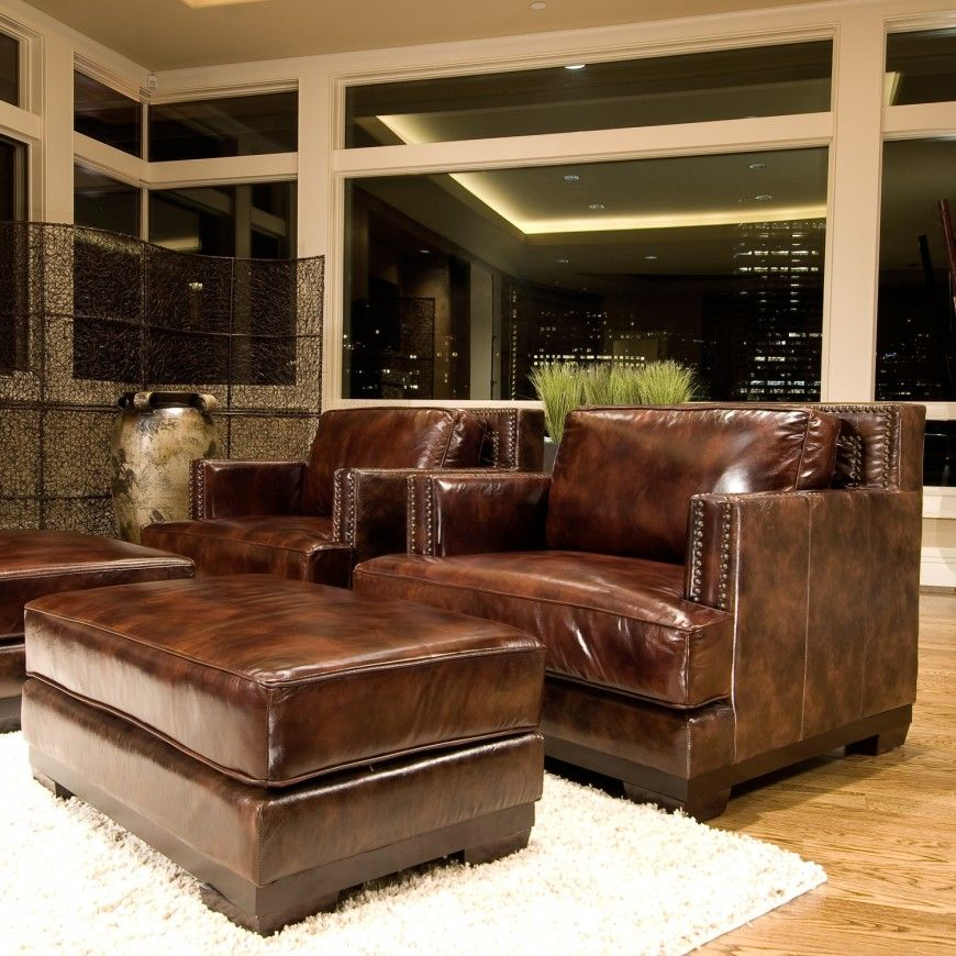 25 Best Man Cave Chairs Leather chair with ottoman