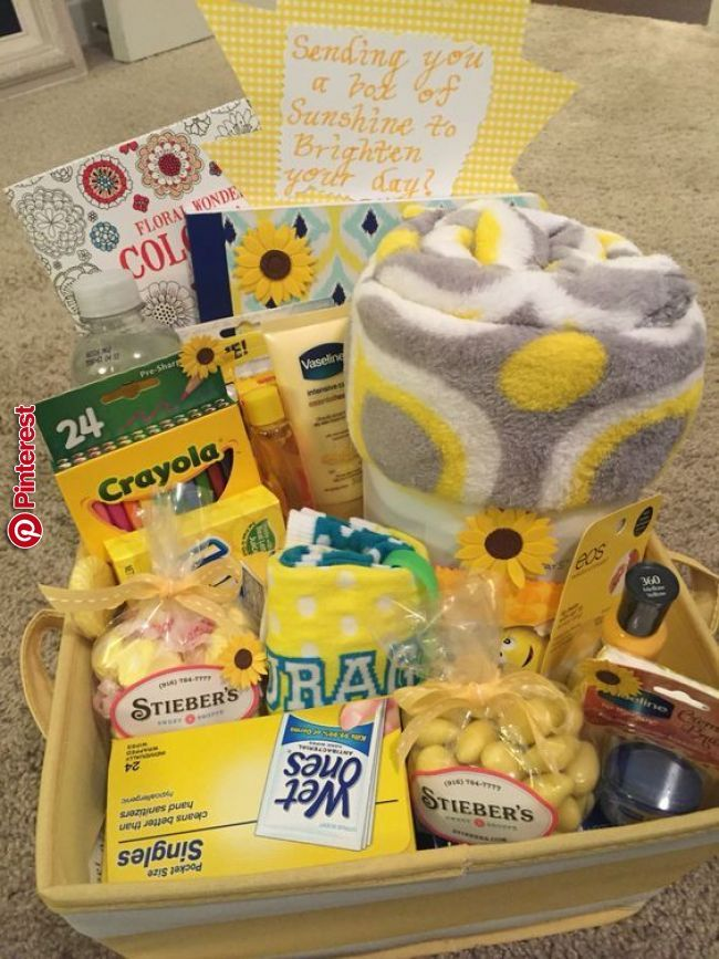 Basket Of Goodies Mothers Day Pinterest Gifts Bff Gifts And Best Friend Gifts Basket O Cute Birthday Gift Sunshine Gift Birthday Gifts For Best Friend