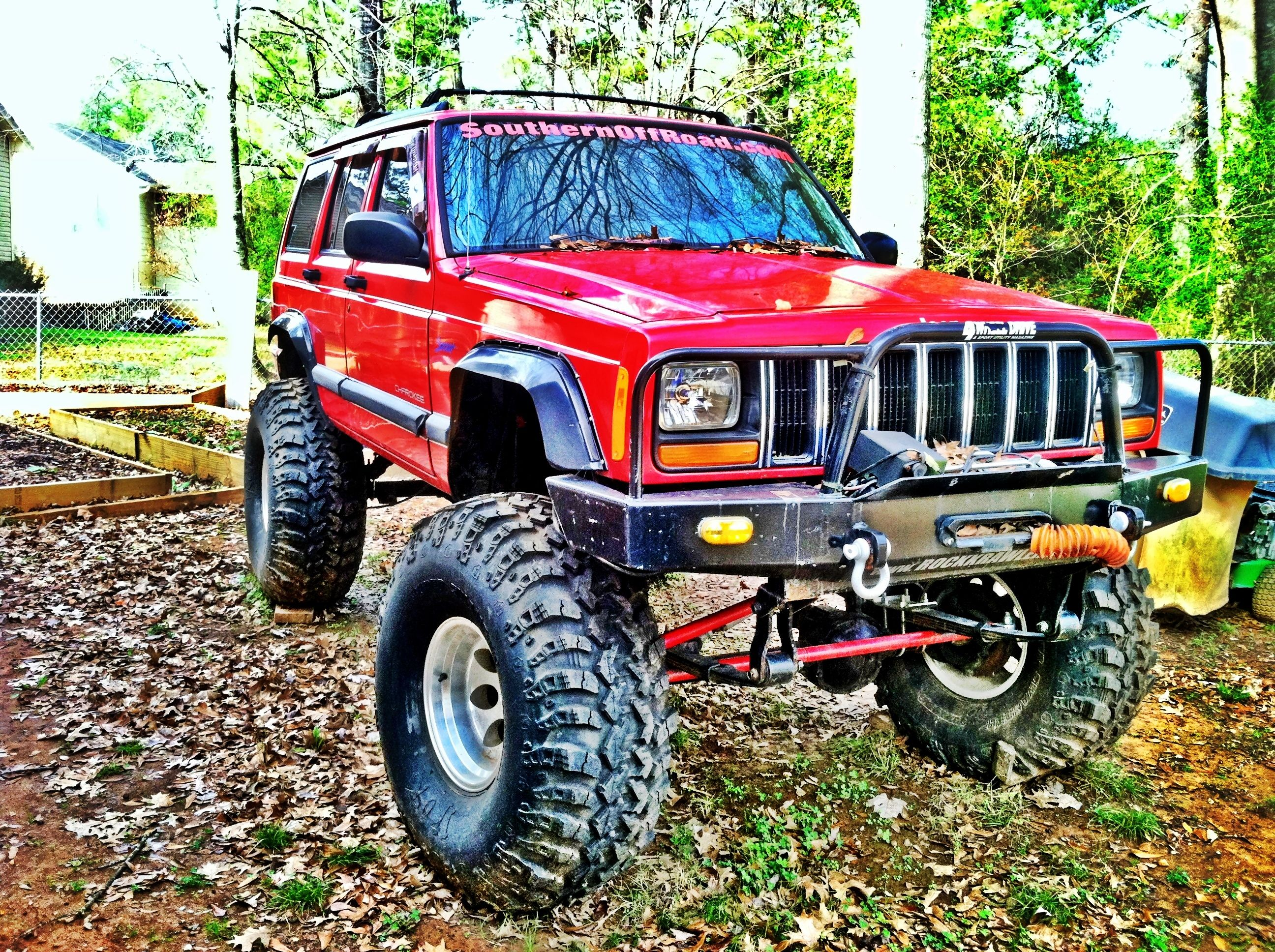 Big Red Jeep Cherokee Jeep Cherokee Red Jeep Jeep