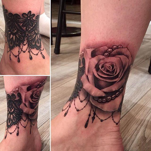 Instagram Photo By Davidgarnerart Tato Wanita Bertato Tato Bunga Rose