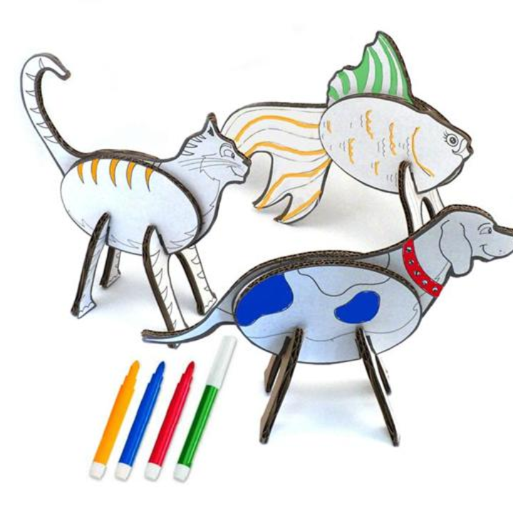 Create & Color Animal Puzzles | 3girls | Pinterest | Manualidades ...