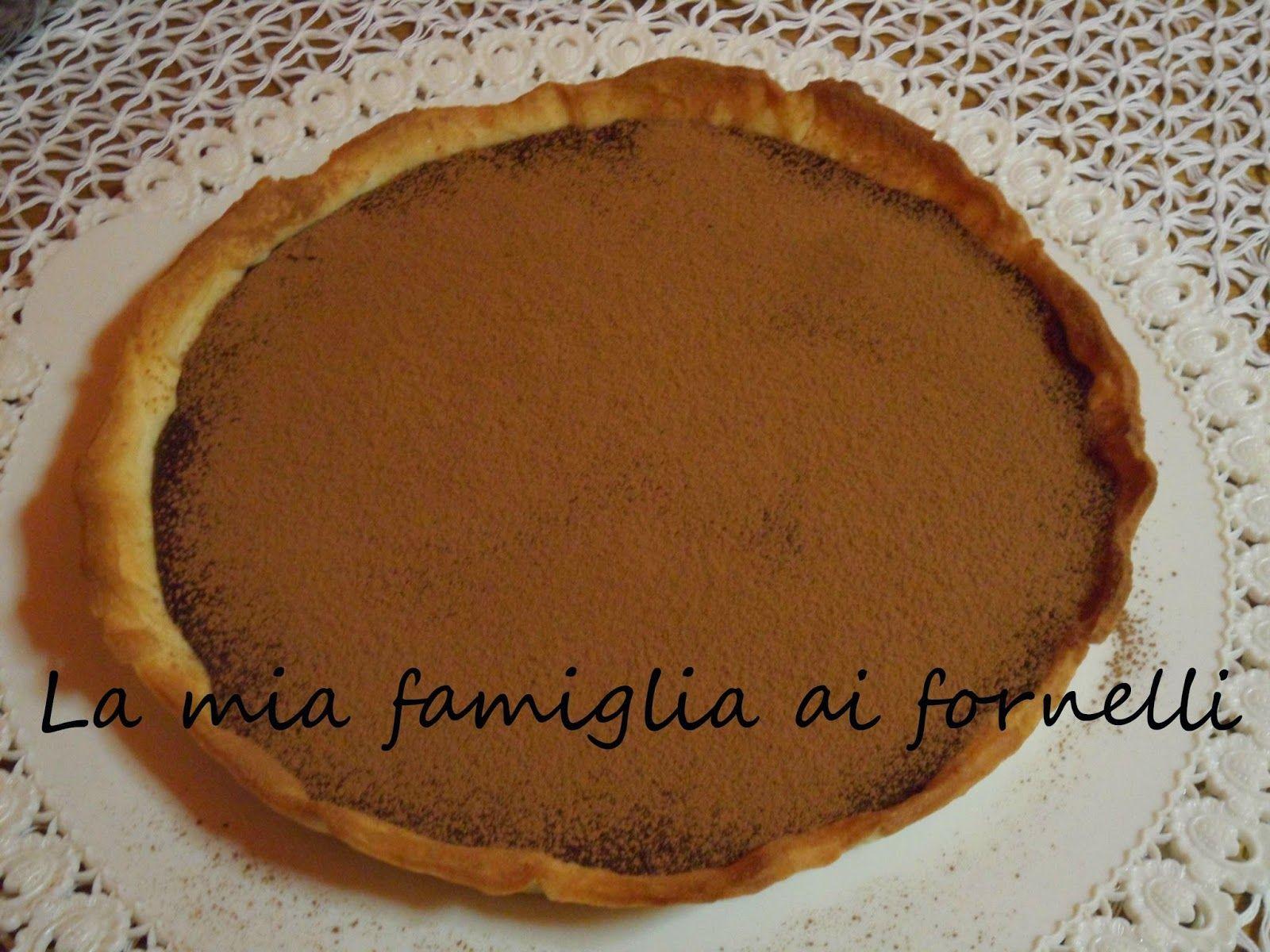 La mia famiglia ai fornelli: dolci  CROSTATA CON GANACHE AL CIOCCOLATO